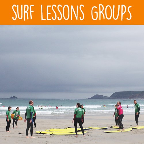Group Surf Lessons with Sennen Surfing Centre
